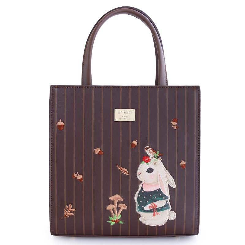 ФОТО Flap Lady Vintage Small Leather Handbags Rabbit Print Fashion Shoulder Crossbody Messenger Bags Totes Women Bag Bolsa Femininas
