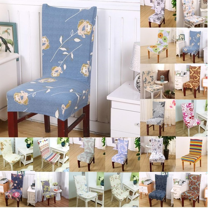 1pcs Flower Butterfly Stretch Home Decor Dining Chair Cover Spandex Decoration covering  ...