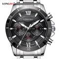 Longbo New Fashion Business  Watch Men Luxury Stainless Steel Roman Number Casual Quartz Wristwatch Popular Montre Homme Clock