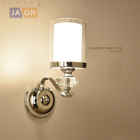 led e14 Nordic Iron Crystal Glass LED Lamp LED Light Wall lamp Wall Light Wall Sconce For Foyer Bedroom Corridor
