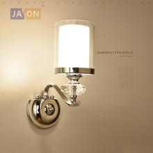 купить led e14 Nordic Iron Crystal Glass LED Lamp LED Light Wall lamp Wall Light Wall Sconce For Foyer Bedroom Corridor по цене 3200.55 рублей