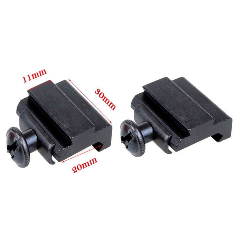 цена на 11MM to 20MM Scope Rail Mount Base Weaver Picatinny to Dovetail Adapter Hunting Accessories