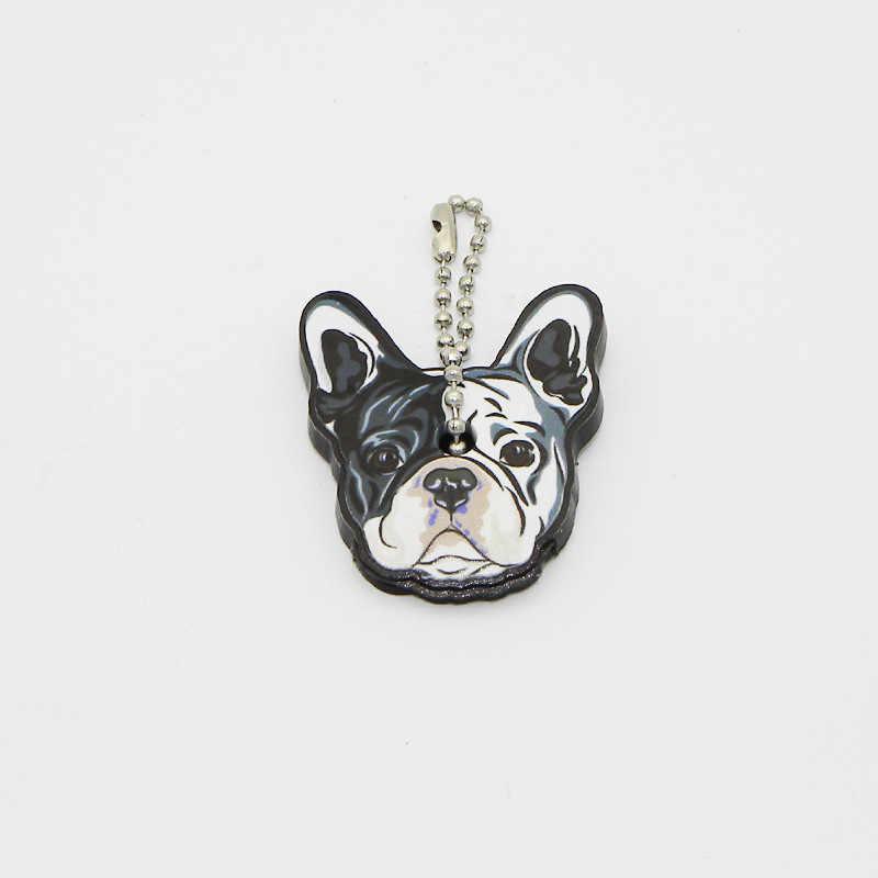 พวงกุญแจ French Bulldog ซิลิโคน Siberian Husky Dog Key Pom ของขวัญสัตว์เลี้ยง Lover ผู้หญิงสาวกระเป๋า Charm พวงกุญแจ Dropshipping