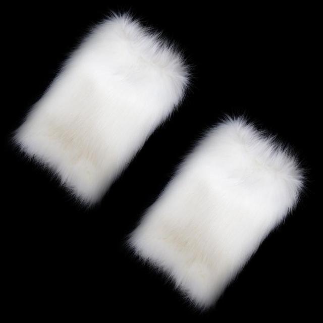 Fetish White Furry Role Play Costume Head Piece Leg Piece,Fox Tail Set Pet Paw