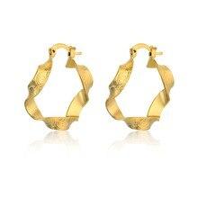 India Dubai joyería clásico oro Color círculo aros pendientes para las mujeres Vintage declaración pendientes partido regalos femeninos EH558