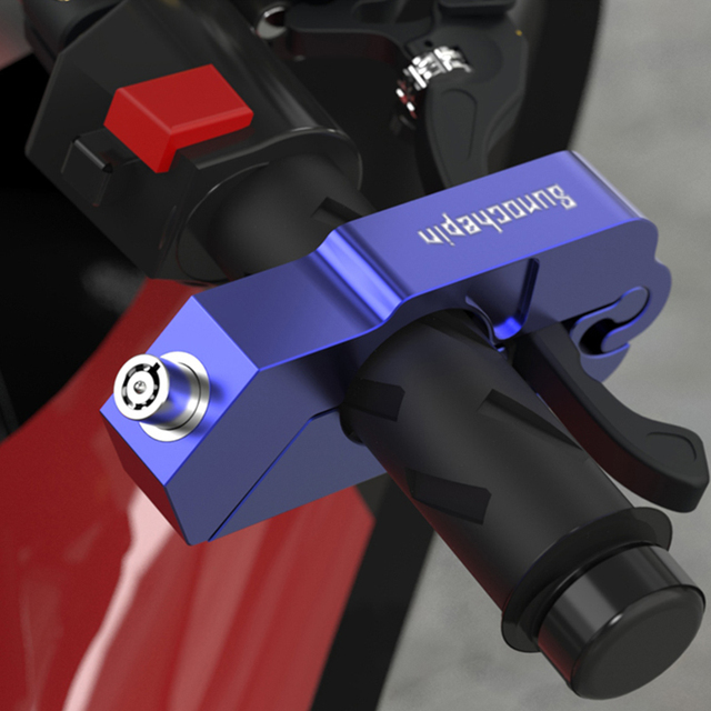 Motorcycle Grip Lock CNC Security Safety Locks Handlebar Handset Brake Lever Disc Locking Fit Scooter ATV Anti-theft Motor Lock 2
