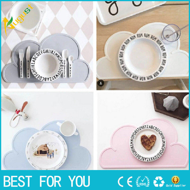 Baby child cloud silicone mattress insulation mobile plate waterproof environmental protection student table mat