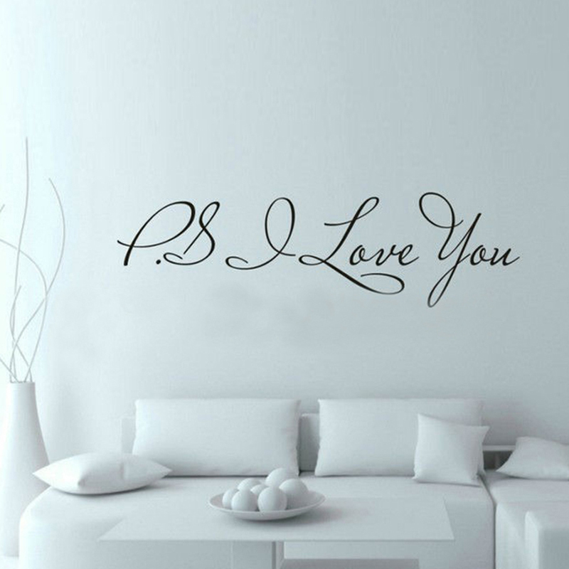 ZUCZUG 58*13 cm PS I Love You Pared Arte Decal Inicio decoración e Inspiración C