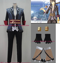 Anime Tales of Vesperia Yuri Lowell cosplay costume top+vest+pant+gloves+shoes covers set