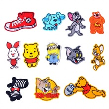 embroidery patch stickers for children cartoon cloth small cat mouse thermo-adhesive clothing