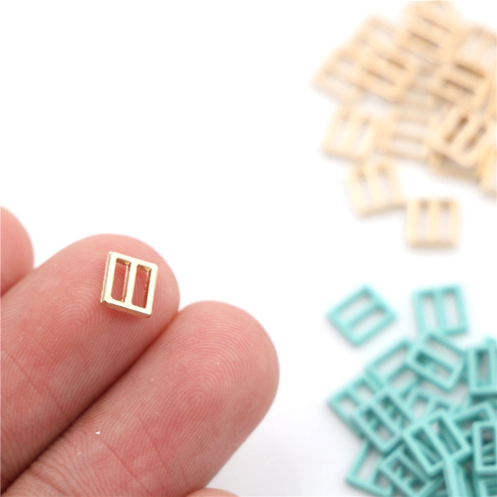 20pcs/lot 6mm Sewing Mini Buckle For Bjd Dolls Dolls Clothing Adjustable Button DIY Patchwork Buckle Handmade