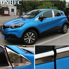 DNHFC Stainless steel Car window decoration article Chorme Car Accessories For Renault Captur 2014 2015
