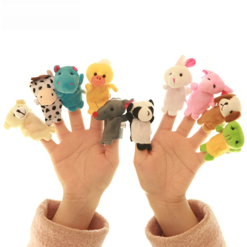 2017 Brinquedo The Puppet Characters Male Girl Doll Gloves Puzzle Kids Toys Gift To Appease Early Childhood Finger Puppet/1pcs