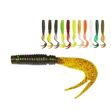 8pcs/lot Soft Lure 75mm 3.3g Fishing Bait Plastic Maggot High Quality