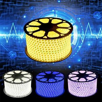 100 MLED Neon Lichter Aquarium SMD5050 IP65 Wasserdichte 220 v AC LED Streifen Flexible Neonlicht Rohre Luces Hause Weihnachten Party band