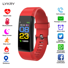 LYKRY Fashion Smart Bracelet Heart Rate Blood Pressure Monitor IP67 Waterproof Fitness Activity Tracker Pedometer Band