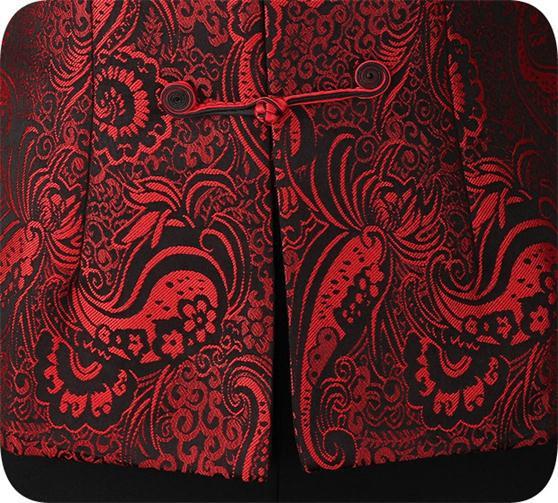 Vendita Vestiti Dettaglio Del All'ingrosso Seta Di Gratuita Spedizione Donne raso Cinese Sportiva Rivestimento Cappotto Delle Tuta Rosso Commercio Dei Della Costume Al IaYwF4w