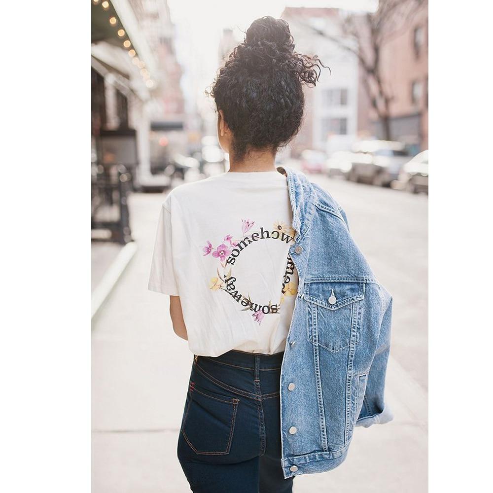 Vintage Classic Crewneck T Shirt Women Summer BTS Kpop Vogue Kawaii Streetwear Tumblr Harajuku Printed Tops Plus Size Clothing