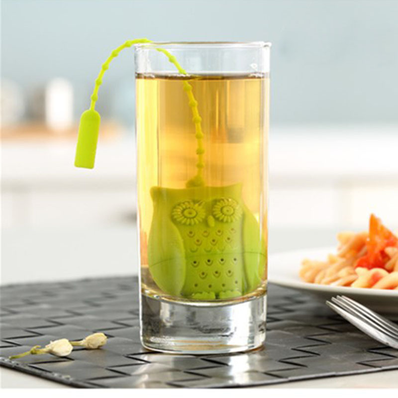 Cute Silicone Owl Tea Infuser Loose Leaf Tea Strainer Herbal Spice Infuser Filter Tea Tools Fast shipping E3