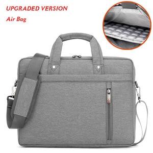 """Image 2 - Wodoodporna, odporna na wstrząsy powietrza torba na laptopa 17.3 15.6 15 14 13.3 13 """"luksus gruby przenośne torba na ramię kobiety mężczyźni Notebook torba"""