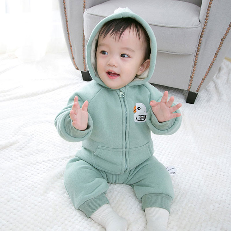 Autumn Cotton Hooded Romper for Newborns Baby Girl Boy Warm Outerwear Sport Toddler Jumpsuit Infant Baby Clothing Clothes 0-24M