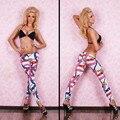 Feitong Mujeres Atractivas Jeggings Flaco Leggings Elástico Delgado Pantalones Lápiz Pantalones Impresos Leginsy Damskie Roupa Academia # O