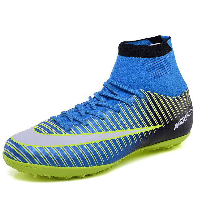 5b34dfc88 Turf Soccer Shoes Indoor Soccer Cleats For Men Superfly V CR7 TF Soccer  Boots Kids Boys