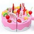75 pçs/set cozinha de plástico bolo de aniversário brinquedo pretend play food presentes para as crianças