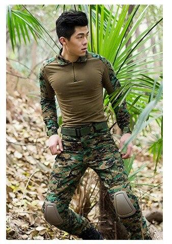 Livraison gratuite, costume de grenouille armée de qualité de marque noire, uniforme militaire tactique multicam hommes ensembles, acu, cp, mandrake combat - 5