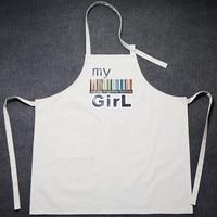 לבן אפור בד ציור אפיית אפיית בישול בית גינון Crafting ביב סינר עבודה הילדה ילד ללבוש זוג מתנות מציג B87
