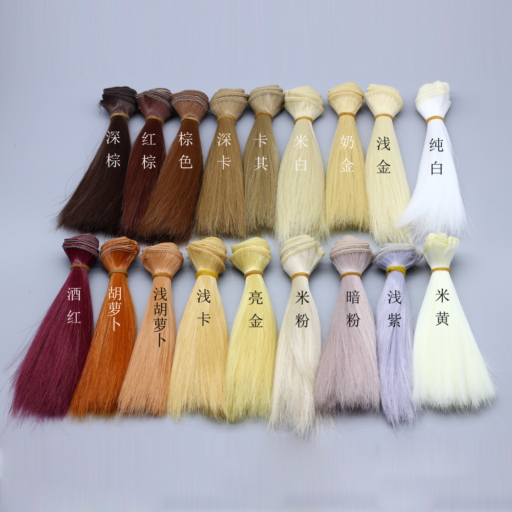 1pcs 15cm*100CM Natural color doll Wigs/hair refires hair straight wig hair for BJD/SD 1/3 1/4 1/6 diy wig ep004 fashion black hair extension fur wig 1 3 1 4 1 6 bjd wigs long wig for diy dollfie