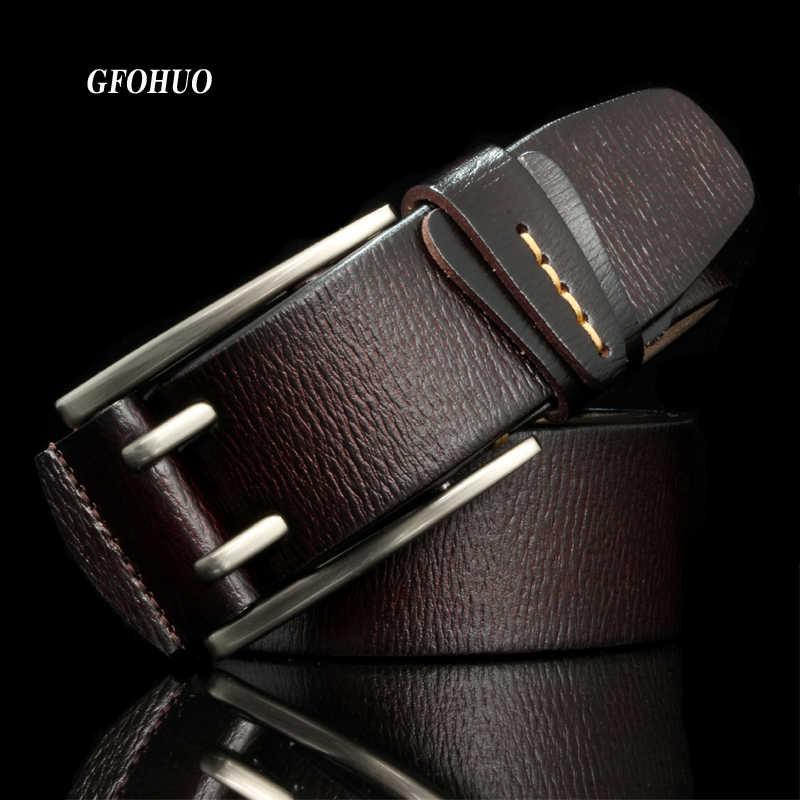 Moda İngiliz Tarzı Çift Pin Toka yüksek kalite hakiki deri kemer Erkekler Için günlük kot Kemerler Askı Ücretsiz Kargo