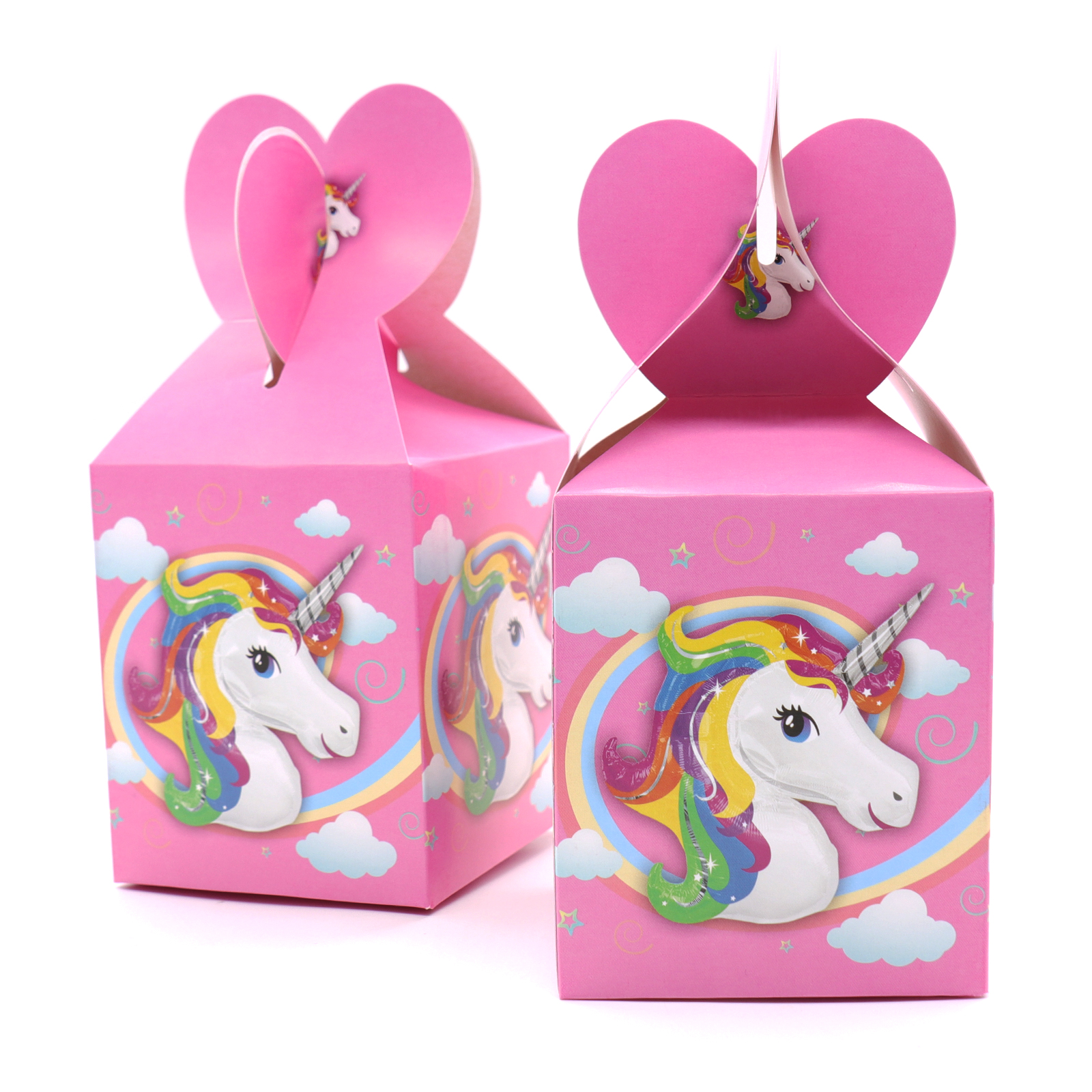6pcs Unicorn Candy Boxes Cartoon Pink Candy Boxes for Baby Shower ...