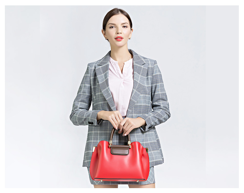 Zency senhora do escritório bolsa tote 100%