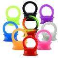 3-25mm Flexível de Silicone Tampões para os ouvidos e Túneis Duplo Flared Ear Túnel Plug Gauges Kit Body piercing Jóias ouvido Alongamento