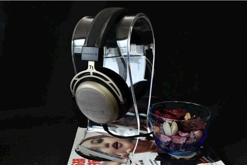 Nouveau casque de jeu casque écouteurs Rack Transparent acrylique casques titulaire cristal écouteurs Stand pour PC ordinateur