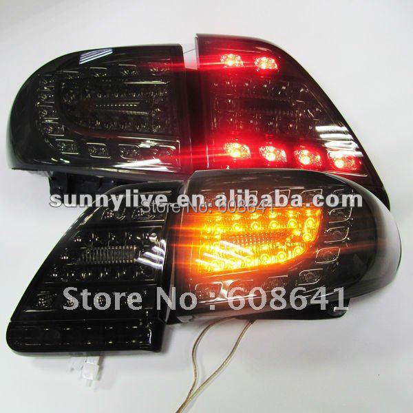 For TOYOTA Corolla Altis LED Tail light 2011-2012 Year Smoke Black Color YZV2 santa fe full led tail light for hyundai 2007 2012 year red smoke color