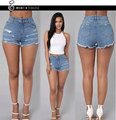 Summer Sexy Women's Irregular High Waisted Shorts Fashion Slim Tassel Vintage Denim Jeans Shorts Women Plus Size 2xl Omighty