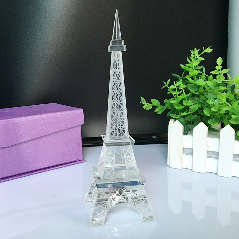 Popular New Home Decor Crystal Glass Eiffel Tower Model Art Crafts - Home Decor - Photo 3