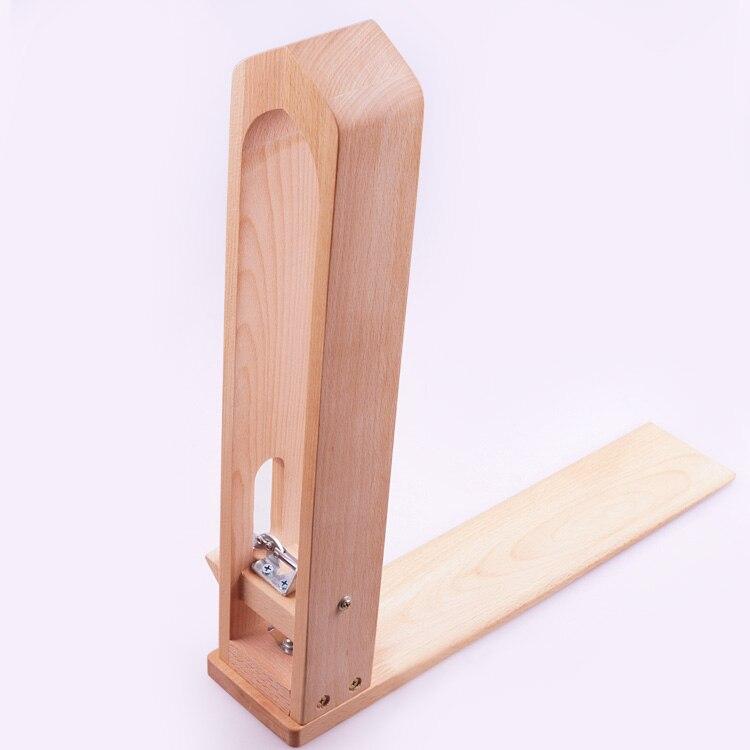 Couture manuelle pince à bois outil bricolage en cuir cousu main Clip marchandises points outils cadre fixe hêtre massif poli lisse