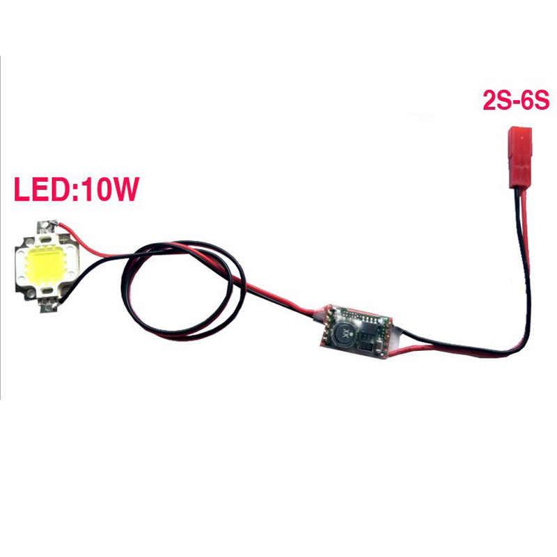 1PC RC Flugzeug Nacht Fliegen Lichter Einzel/Doppel Blinkende 10W Power LED Strobe-Licht 5V -26V 300mA für Drone Quadcopter
