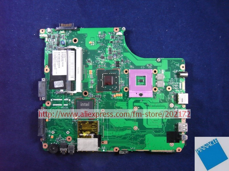 V000125460 Motherboard for Toshiba Satellite A300 A305 6050A2169401 nokotion sps v000198120 for toshiba satellite a500 a505 motherboard intel gm45 ddr2 6050a2323101 mb a01