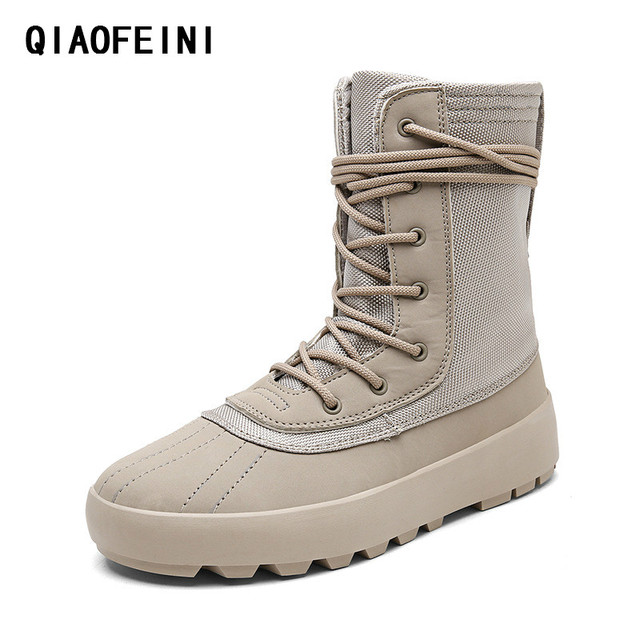 b6025de9cfd Winter a high help kanye west thick bottom design The new men s shoes army  boots military