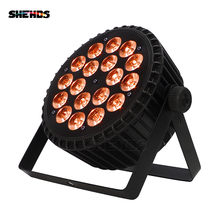 SHDHDS Aluminum Alloy LED Par 18x18W Lights RGBWA+UV 6in1 LED Lighting DMX512 Disco Lights Professional Stage dj Equipment