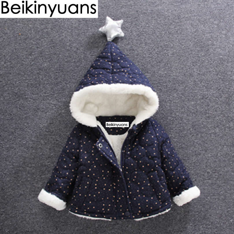 Boys Cotton Jacket Baby Girls Jacket 2017 Autumn Winter Girls Coat Kids Warm Hooded Children Outerwear Coat Infant Girls Clothes цены
