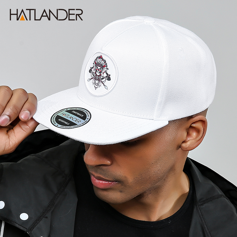 HATLANDER Original bone baseball cap snapback hip hop hats men women sun cap gorras high quality fitted flat bill snapback cap in Men 39 s Baseball Caps from Apparel Accessories