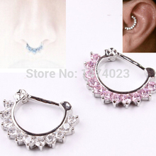 Hot Unique Zircon Aztec Septum Clicker Nose Ring Stud Nose Piercing Stud body jewelry