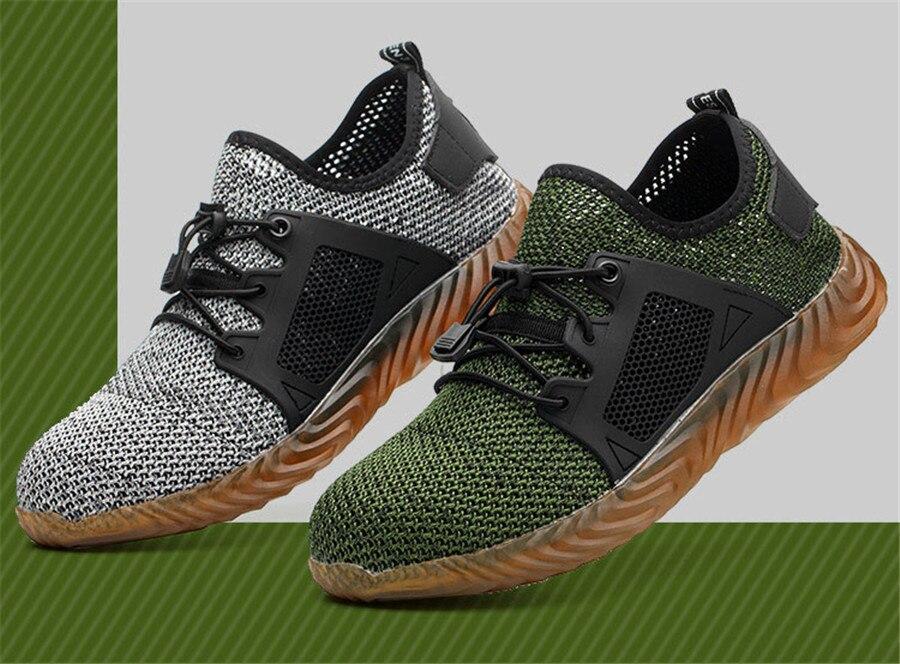 316af8b742 Hot Price] 2019 New Breathable Mesh Safety Shoes Men Light Sneaker ...