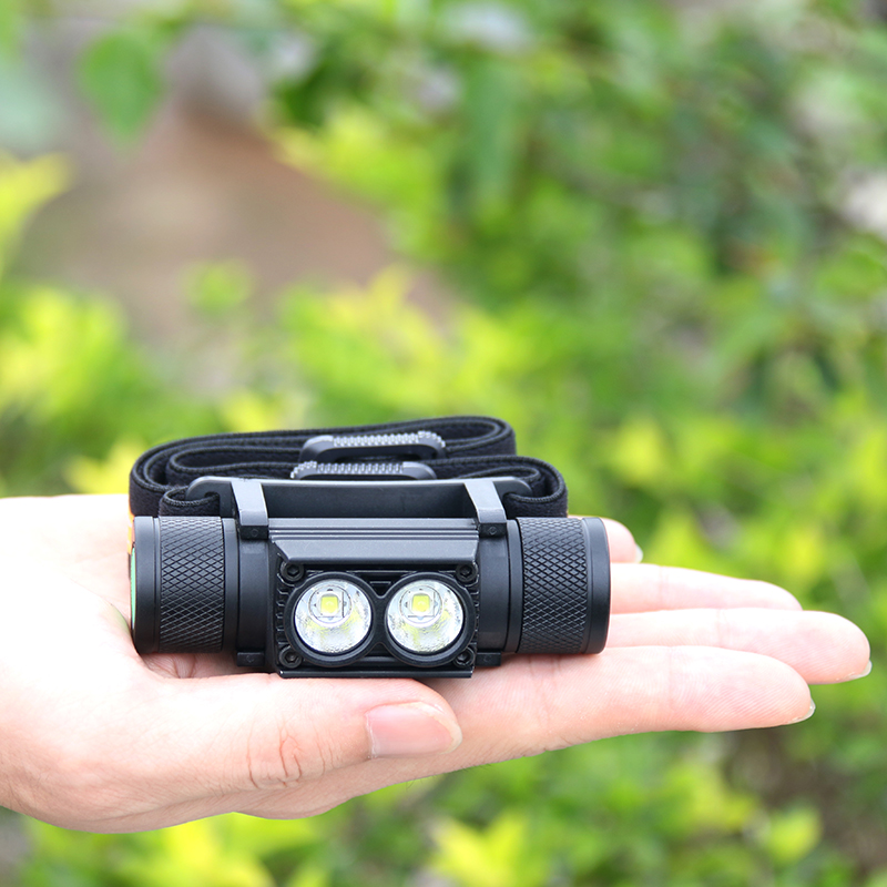Powerful LED USB Rechargeable Headlamp Flashlight mini Head Light Torch  lamp