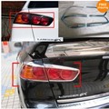 car rear tail lamp cover For mitsubishi Lancer EX 2010~2013 with ABS chrome 4pcs per set Car Stying